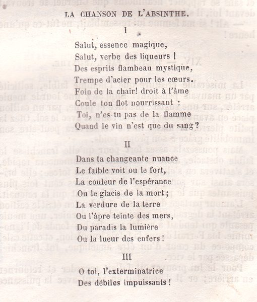 Translations Into Italian: Absinthe Poetry